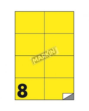 Etichetta adesiva c - 512 giallo fluo 100fg a4 105x74mm (8et - fg) markin X210C512F-GI  X210C512F-GI