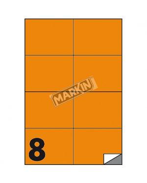 Etichetta adesiva c - 512 arancio fluo 100fg a4 105x74mm (8et - fg) markin X210C512F-AR  X210C512F-AR
