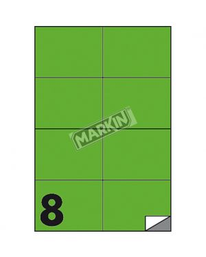 Etichetta adesiva c - 512 verde fluo 100fg a4 105x74mm (8et - fg) markin X210C512F-VE 8007047051103 X210C512F-VE