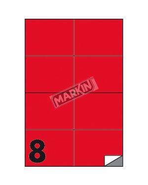 Etichetta adesiva c - 512 rosso fluo 100fg a4 105x74mm (8et - fg) markin X210C512F-RO 8007047051110 X210C512F-RO