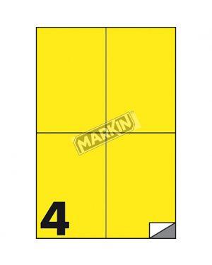 Etichetta adesiva c - 519 giallo fluo 100fg a4 105x148mm (4et - fg) markin X210C519F-GI 8007047051127 X210C519F-GI