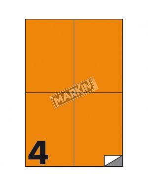 Etichetta adesiva c - 519 arancio fluo 100fg a4 105x148mm (4et - fg) markin X210C519F-AR 8007047051134 X210C519F-AR