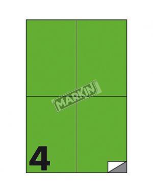 Etichetta adesiva c - 519 verde fluo 100fg a4 105x148mm (4et - fg) markin X210C519F-VE 8007047051141 X210C519F-VE