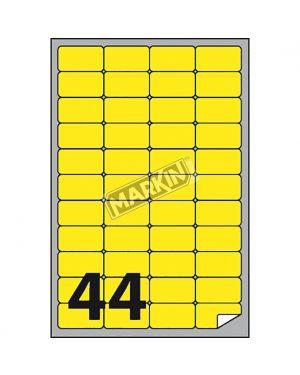 Etichetta adesiva a - 406 giallo fluo 100fg a4 47,5x25,5mm (44et - fg) markin X210A406F-GI  X210A406F-GI