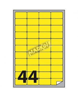 Etichetta adesiva a - 406 giallo fluo 100fg a4 47,5x25,5mm (44et - fg) markin X210A406F-GI 8007047051202 X210A406F-GI