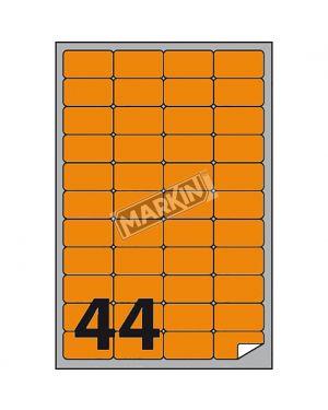 Etichetta adesiva a - 406 arancio fluo 100fg a4 47,5x25,5mm (44et - fg) markin X210A406F-AR 8007047051219 X210A406F-AR