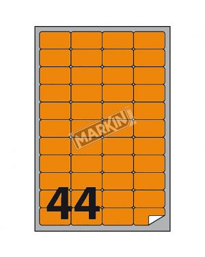 Etichetta adesiva a - 406 arancio fluo 100fg a4 47,5x25,5mm (44et - fg) markin X210A406F-AR  X210A406F-AR
