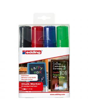 Busta 4 marcatore EDDING 4090 punta scalpello gesso liquido col.assortiti 4-4090-4999