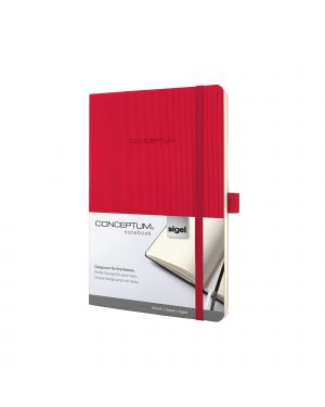 TACCUINO A5 a RIGHE ROSSO 194Pag. softcover SOFTWAVE CONCEPTUM Pure Sigel RCO325