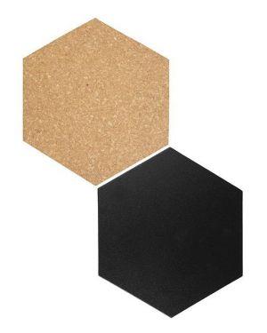 Set lavagne da parete wall hexagon securit FB-CB-HEX 8719075283363 FB-CB-HEX by Securit