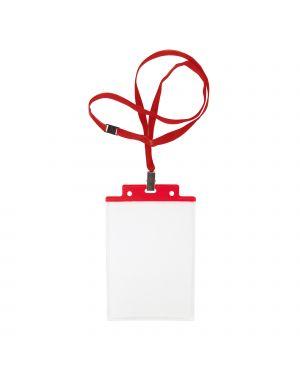 10 portanome pass 6s-p 10x15cm (a6) rosso con cordoncino rosso 31841612 8004972025230 31841612 by Sei Rota