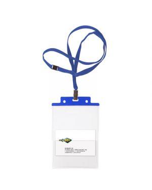 Portanome c/cord. antisoffocam. sei pass 6 s+1p cm.10x15 pz.10 blu 31841607 by SEI ROTA