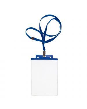 Portanome c/cord. antisoffocam. sei pass 6 s+1p cm.10x15 pz.10 blu 31841607