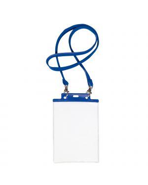 10 portanome pass 7st-m 15x21cm (a5) blu con cordoncino blu 31842907 8004972025438 31842907