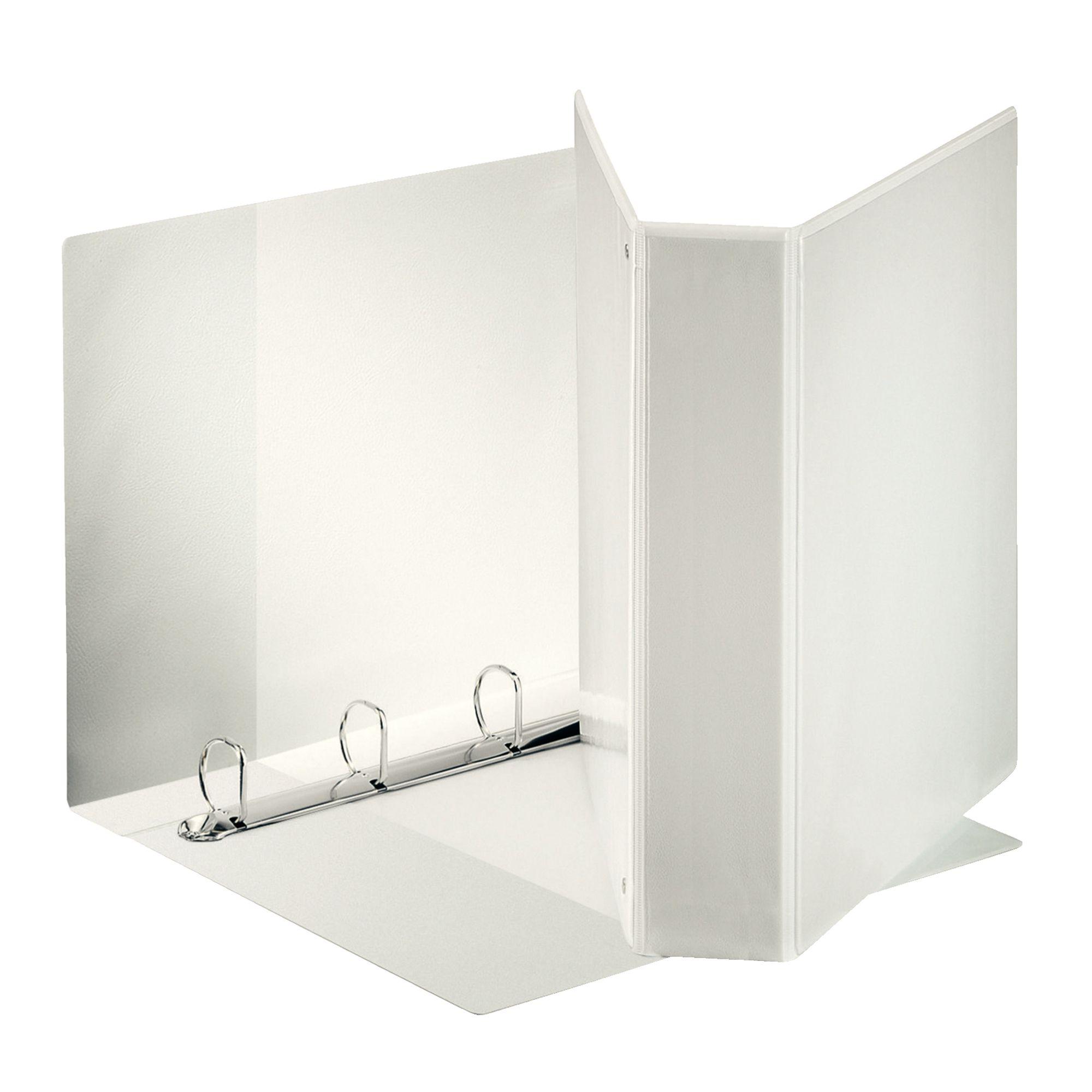 Raccoglitore display maxi 22x30cm 4d h30mm bianco personalizzabile esselte 394756000 8004157475607