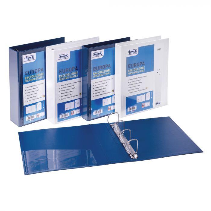 Raccoglitore personalizzabile europa blu 4d h50mm favorit 100460470 by Favorit