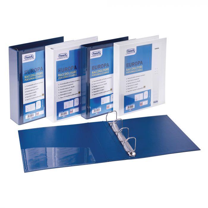 Raccoglitore personalizzabile europa blu 4q h65mm favorit 100460472 by Favorit