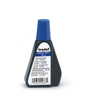 Inchiostro blu 28ml per timbro in gomma 7011 trodat 55883.
