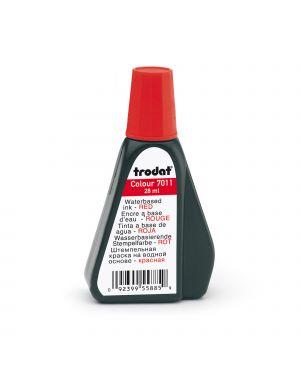 Inchiostro rosso 28ml per timbro in gomma 7011 trodat 55885.