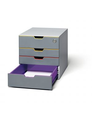 Cassettiera a 4 cassetti varicolor safe durable 7606-27 4005546702414 7606-27 by Durable