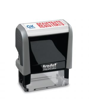 "Timbro printy office eco 47x18mm ""registrato"" trodat 43268. 9008056432685 43268."
