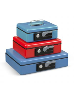Cassetta portavalori 197x154x80mm blu koala deluxe 3413BL 8028422334130 3413BL