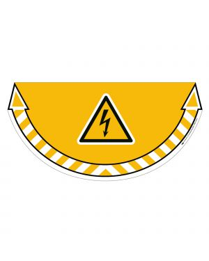 """Adesivo segnalatore da terra """"rischio elettrico"""" 70x35cm take care cep 7010-15 3462159009216 7010-15"""