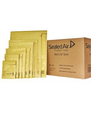 50 BUSTE IMBOTTITE GOLD H 27X36cm UTILE AVANA - conf.risparmio 103027407 by Mail Lite