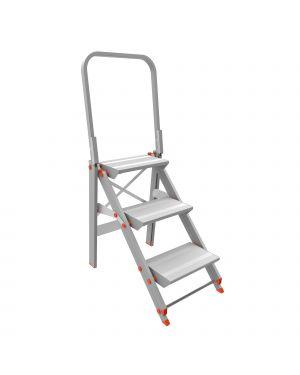 Scala sgabello alluminio 3 gradini con parapetto class piu&#39 20523 8021227005168 20523