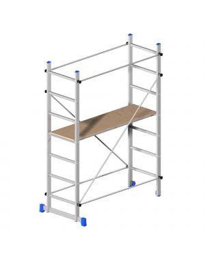 Trabattello in alluminio 158x80cm - h210cm superminio 20783 8021227005793 20783