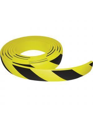 Paracolpi in rotolo 5 metri in gomma nbr h6cm giallo - nero PGV500 8008076815001 PGV500
