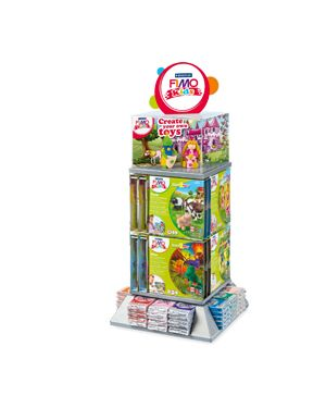 """Display 96 panetti fimo kids 42gr ass. e 24 set """"formplay"""" staedtler 8034VS 4007817806203 8034VS by Fimo"""