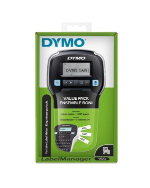 Promo pack etichettatrice labelmanager 160 dymo+3 nastri d1 12mm n - b 2142267 3026981422676 2142267 by Dymo
