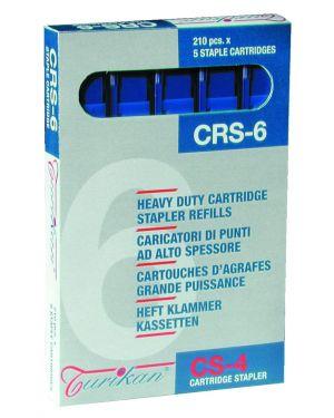5 caricatori da 210 punti CRS-6 mm blu (fino a 25 fogli) Turikan 21 by Iternet