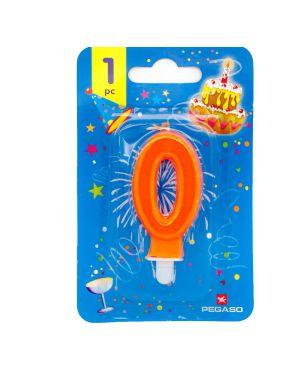 Blister candelina n°0 arancio fluo 7cm pegaso PB922FLUOMD-0