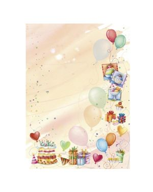 """Carta con stampa """"PARTY'"""" A4 90gr 20fg Decadry T036770"""