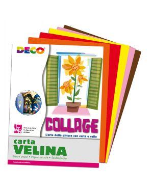 Busta di carta velina 25fg 50x76cm 5 colori caldi assortiti cwr 10732 8004957107326 10732