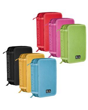 Astuccio 3 zip colors 13x20x7.5cm colori assortiti riplast 698300 8004428013798 698300 by Ri.plast