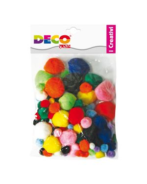 Pompons busta da 40pz colori assortiti deco 10959 8004957109597 10959 by Cwr