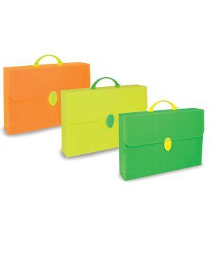 Valigetta polionda fluo 28x39cm dorso 8cm colori assortiti PF14254 FL1COL 8010151600013 PF14254 FL1COL