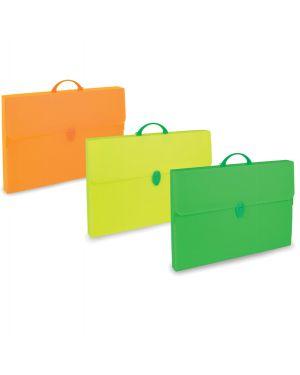 Valigetta polionda fluo 38x52,5cm dorso 5,5cm colori assortiti PF14235 FL1COL 8010151600020 PF14235 FL1COL