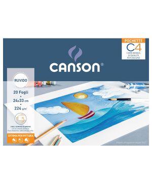 Album pochette C4 carta da disegno 24x33cm 224gr 20fg ruvido Canson CONFEZIONE DA 20 400089594 by Canson