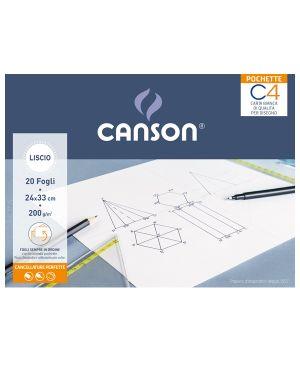 Album pochette C4 carta da disegno 24x33cm 200gr 20fg liscio Canson CONFEZIONE DA 20 400089595 by Canson