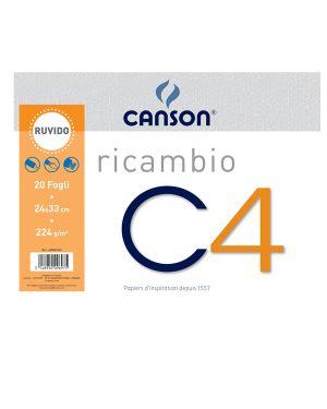 Ricambi per album C4 24x33cm 224gr 20fg ruvido Canson CONFEZIONE DA 10 400052349 by Canson