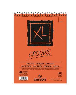 Album xl croquis a5 90gr 60fg canson CONFEZIONE DA 5 200787220