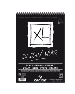 Album xl dessin noir f.to a4 150gr 40fg canson 400039086 3148950074775 400039086 by Canson