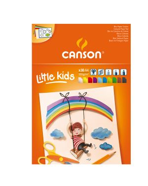 Album colorato Little Kids 2+ f.to A4 120gr 30fg Canson CONFEZIONE DA 5 400015600 by Canson