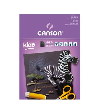 Album nero Kids 5+ f.to A4 220gr 10fg Canson CONFEZIONE DA 5 400015602 by Canson