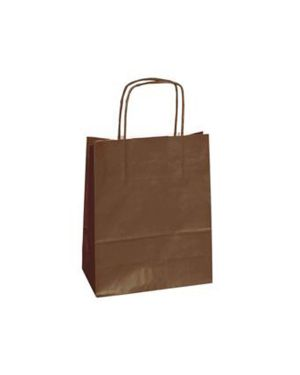 25 shoppers carta kraft 26x11x34.5cm twisted marrone 73991 8029307073991 73991 by Cartabianca