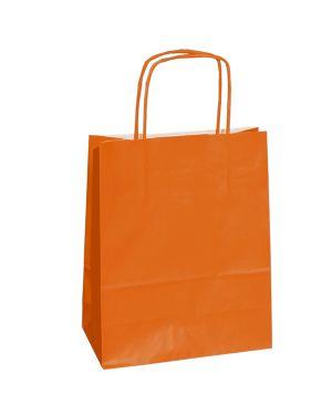 25 shoppers carta kraft 14x9x20cm twisted arancio 79795